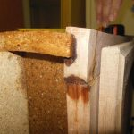 No break-apart of particleboard
